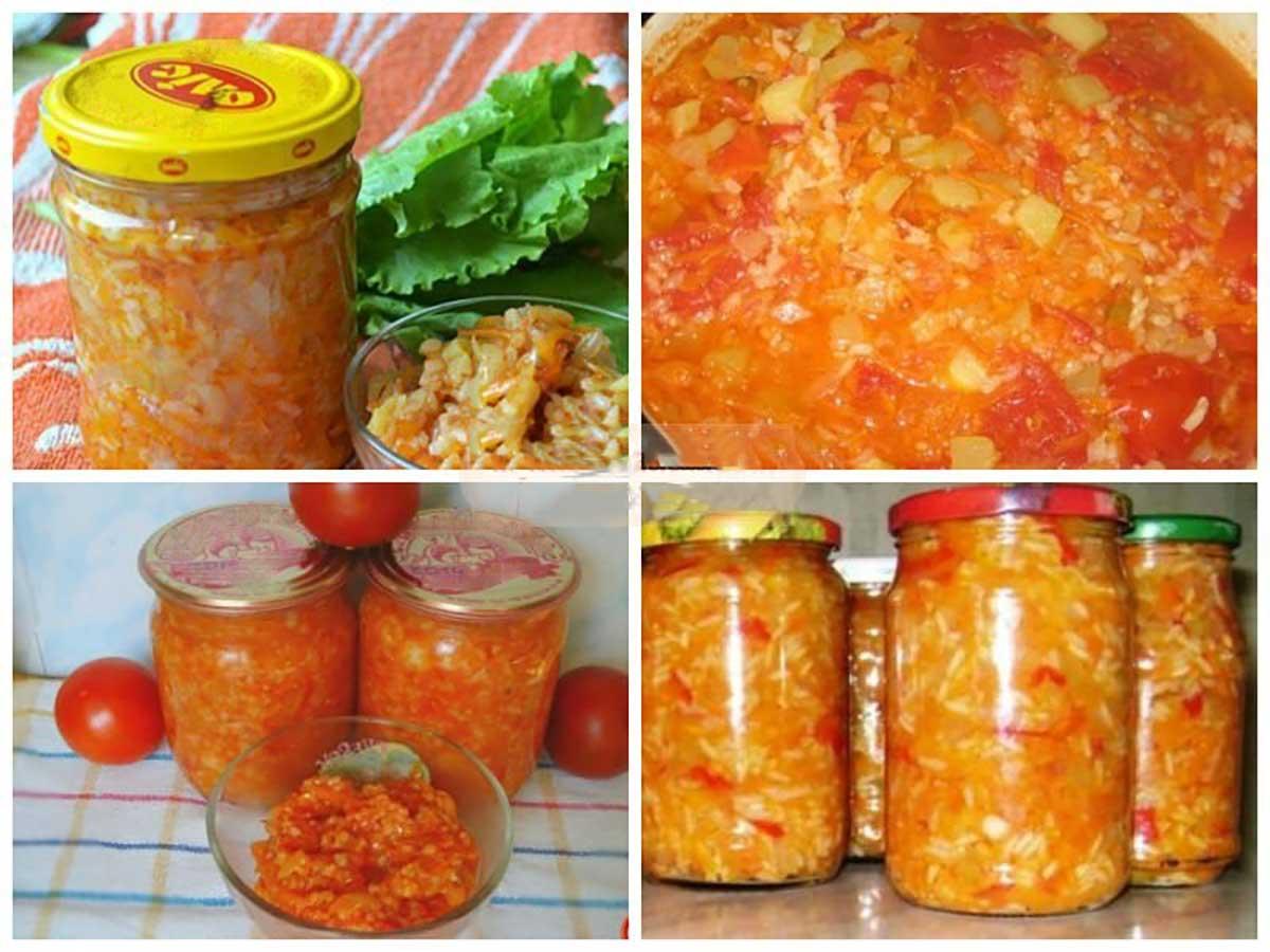 Салат с рисом и кабачками на зиму рецепты пошагово в