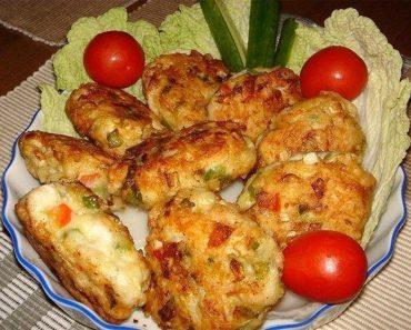 Imagini pentru Pârjoale de pui cu legume și cașcaval – un gust picant și original!