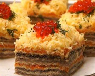 Imagini pentru Nu știți cum să vă surprindeți oaspeții? Serviți-i cu acest tort-aperitiv și laudele nu vor întârzia să apară!
